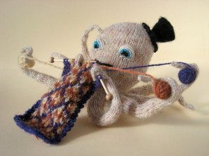 I actually found a knitting Octopus!